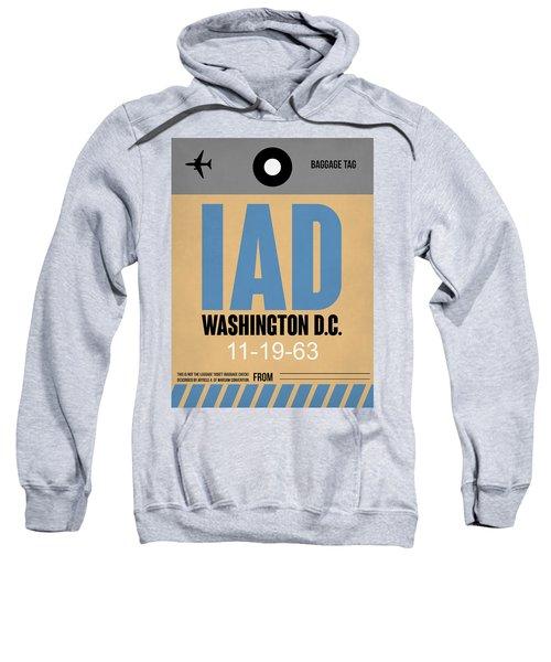 Washington D.c. Airport Poster 3 Sweatshirt by Naxart Studio