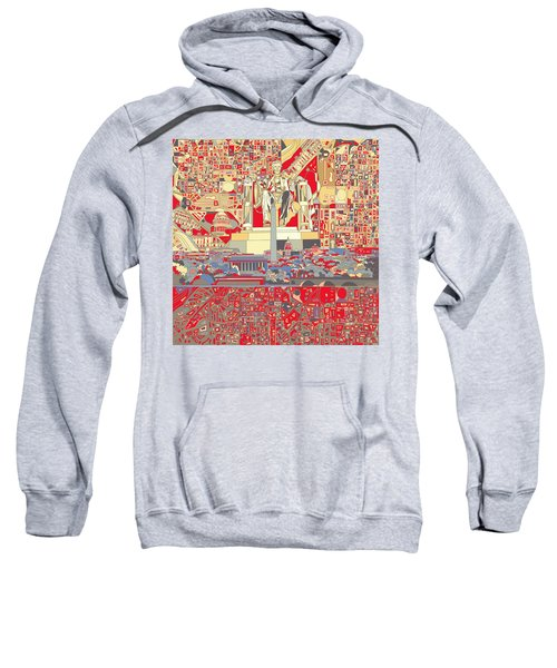 Washington Dc Skyline Abstract 6 Sweatshirt