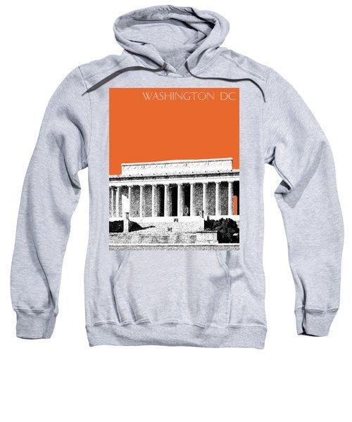 Washington Dc Skyline Lincoln Memorial - Coral Sweatshirt