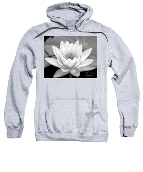 Water Lily In Black And White Sweatshirt