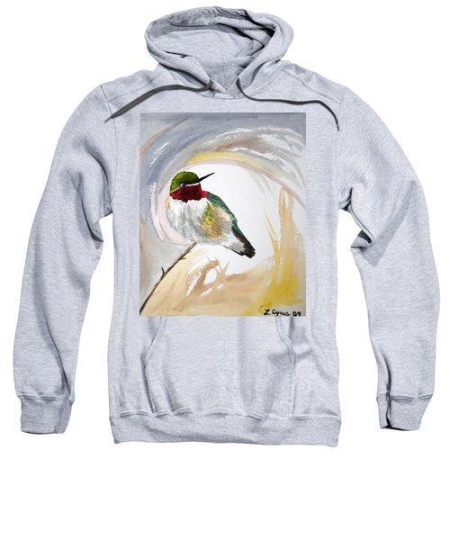 Watercolor - Broad-tailed Hummingbird Sweatshirt