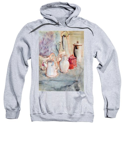Watercolor Still Life With Red Can Sweatshirt