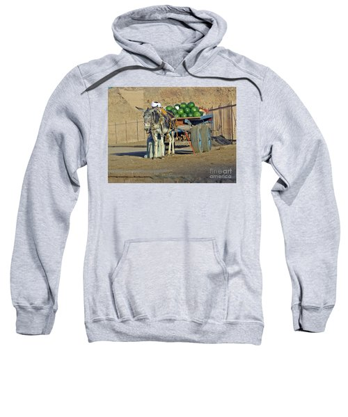 Watermellon Cart Karnac Egypt Sweatshirt