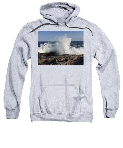 Waves Crashing On Rocky Maine Coast Sweatshirt