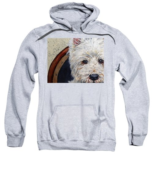 West Highland Terrier Dog Portrait Sweatshirt