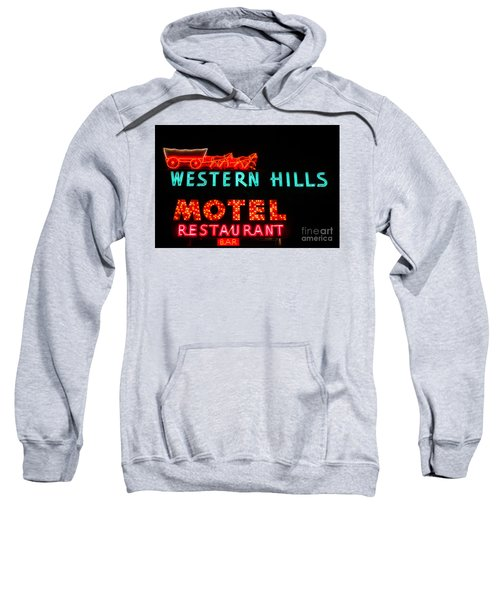 Western Hills Motel Sign Sweatshirt