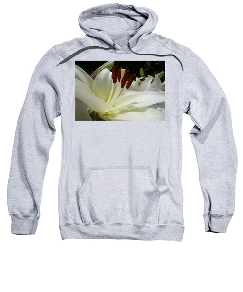 White Asiatic Lily Sweatshirt by Jacqueline Athmann