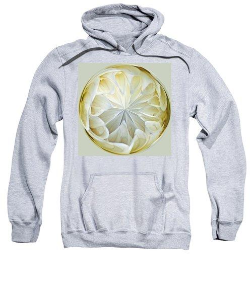 White Dahlia Orb Sweatshirt