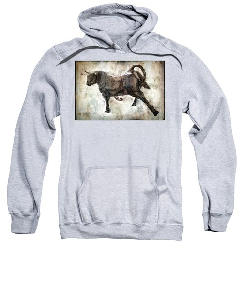 Wild Raging Bull Sweatshirt by Daniel Hagerman