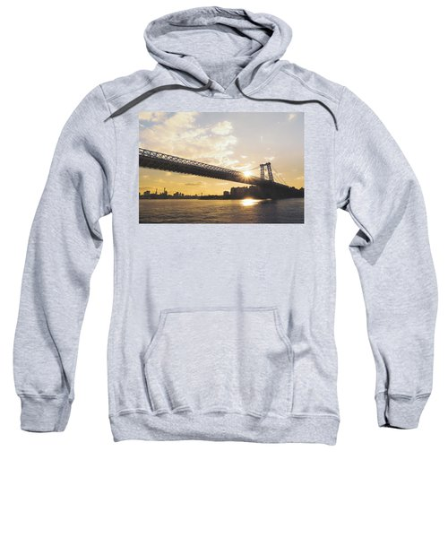 Williamsburg Bridge - Sunset - New York City Sweatshirt