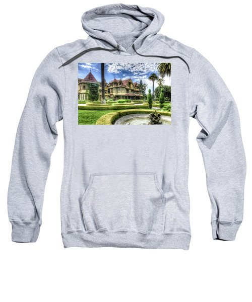 Sweatshirt featuring the photograph Winchester Mystery House by Jim Thompson