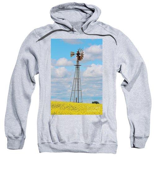Windmill In Canola Field Sweatshirt