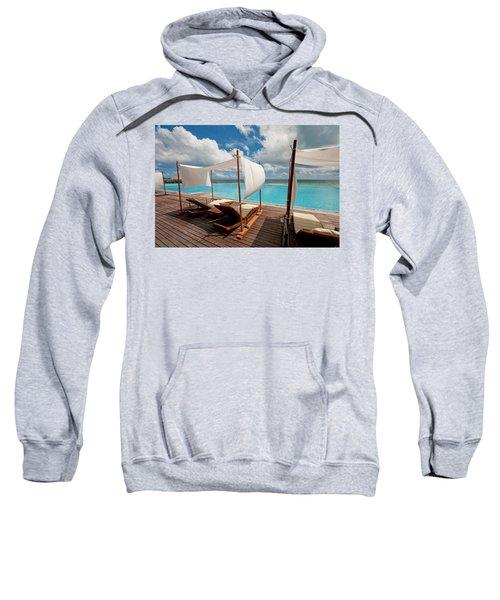 Windy Day At Maldives Sweatshirt