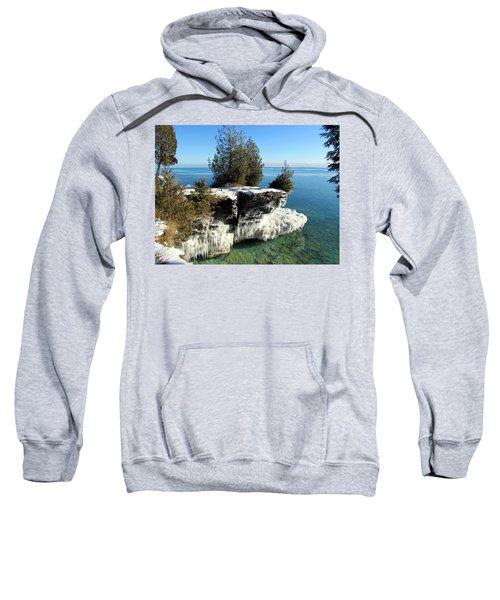 Winter At Cave Point Sweatshirt