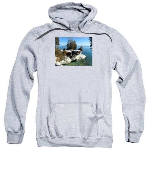 Winter At Cave Point Sweatshirt