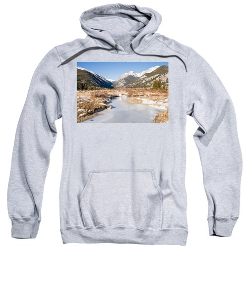 Winter At Horseshoe Park In Rocky Mountain National Park Sweatshirt