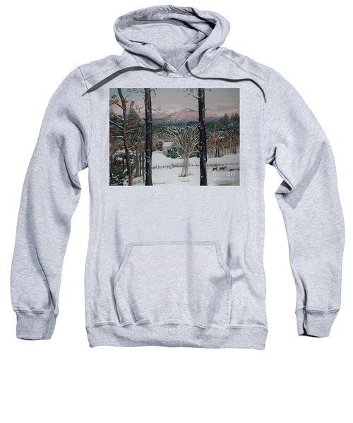 Winter - Cabin - Pink Knob Sweatshirt