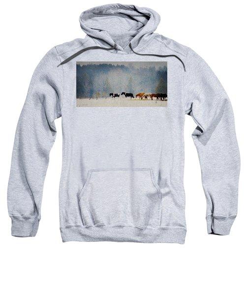 Winter Horses Sweatshirt