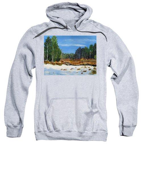 Winter Marsh In Hooksett Sweatshirt