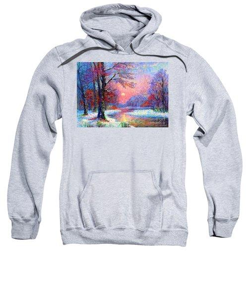 Winter Nightfall, Snow Scene  Sweatshirt