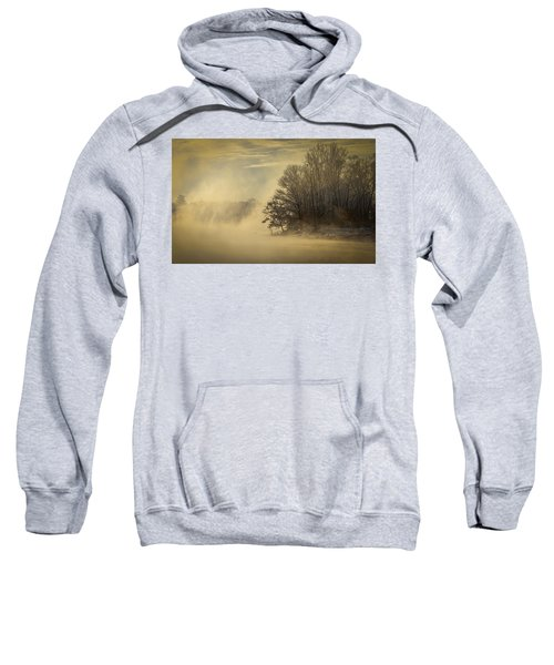 Winter Sunrise On The Wisconsin River Sweatshirt