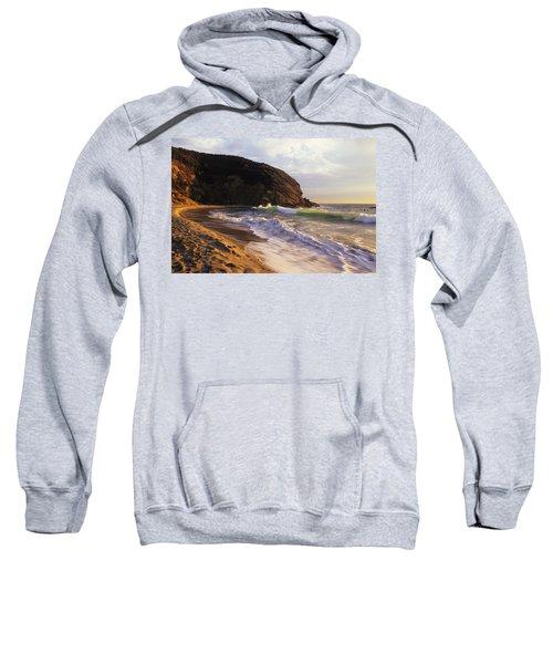 Winter Swells Strands Beach Sweatshirt