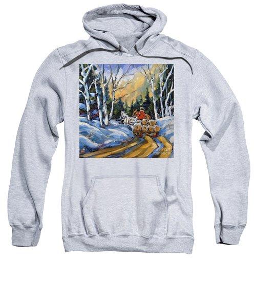 Winter Wood Horses By Prankearts Sweatshirt