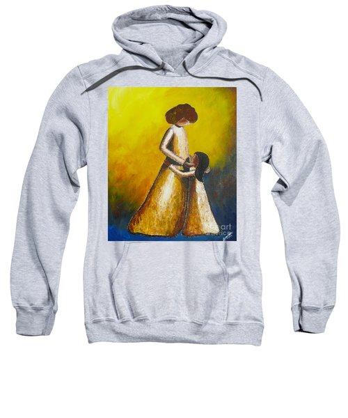 With Her Sweatshirt