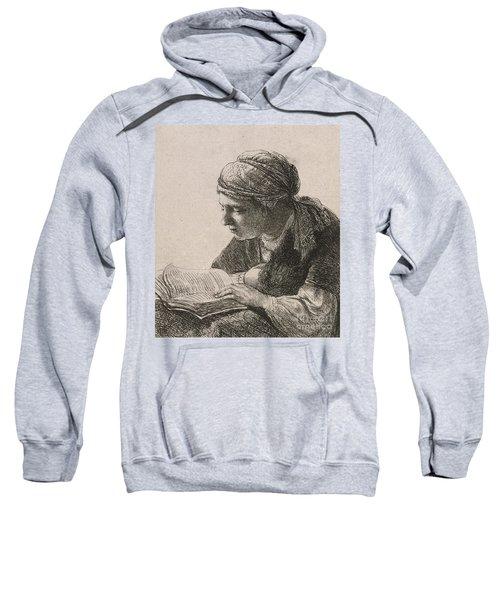 Woman Reading Sweatshirt