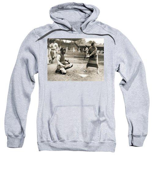 Woman Tennis Star At Bat Sweatshirt