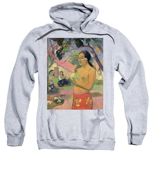 Woman With Mango Sweatshirt by Paul Gauguin