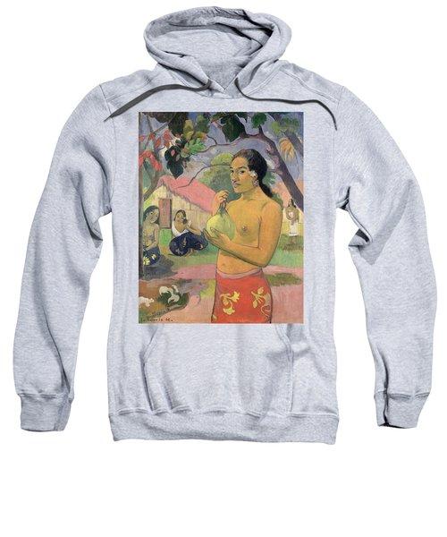 Woman With Mango Sweatshirt