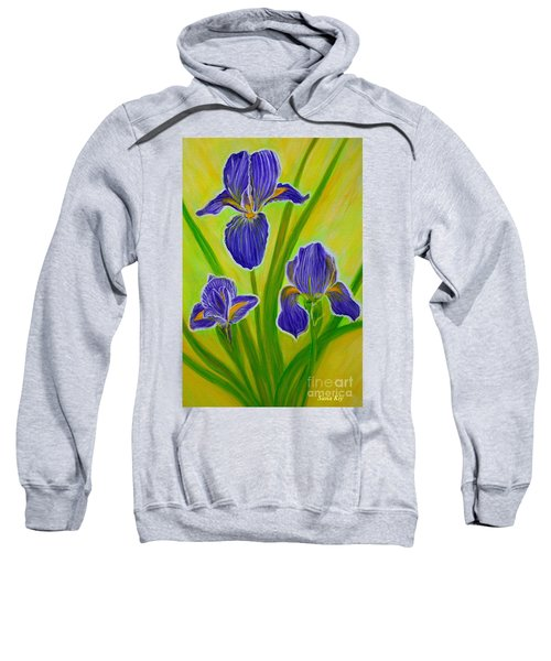 Wonderful Iris Flowers 3 Sweatshirt