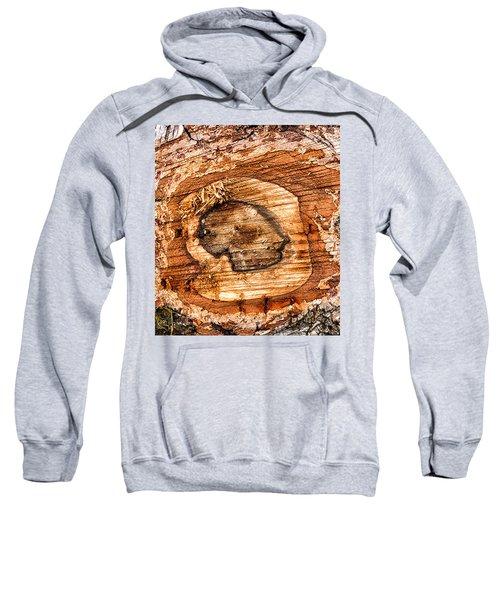 Wood Detail Sweatshirt by Matthias Hauser