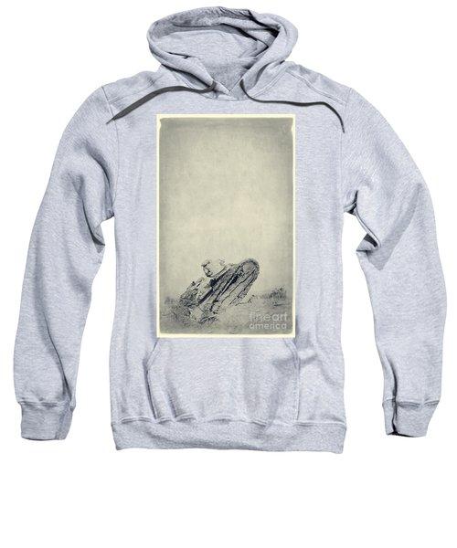 World War I Tank In Trench Warfare Sweatshirt
