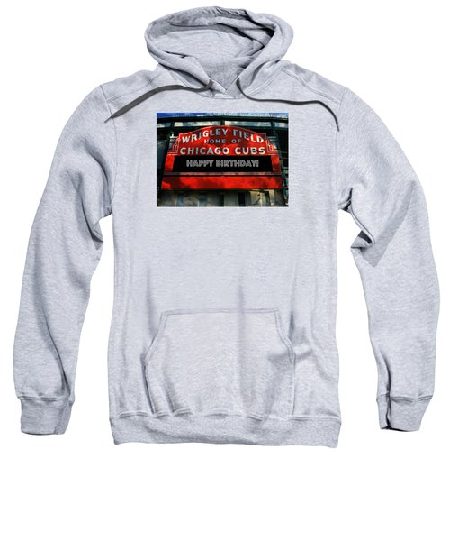 Wrigley Field -- Happy Birthday Sweatshirt