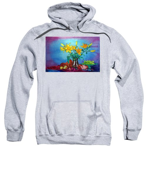 Yellow Lily In A Vase Sweatshirt