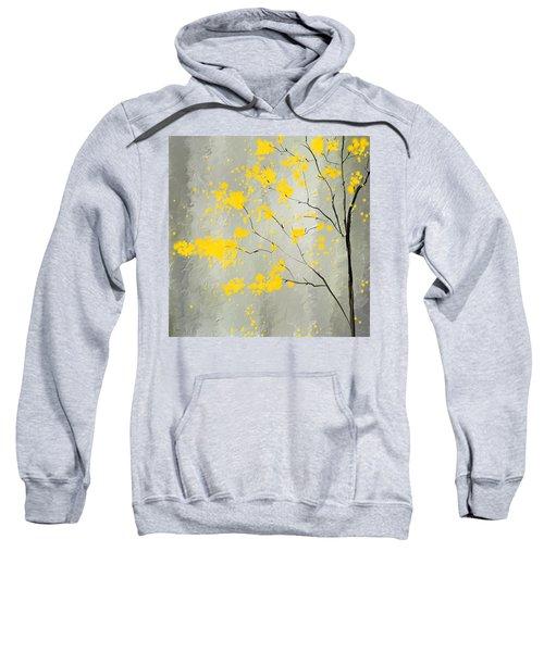 Yellow Foliage Impressionist Sweatshirt