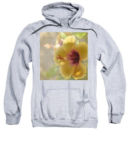 Yellow Hibiscus Sweatshirt by Peggy Hughes