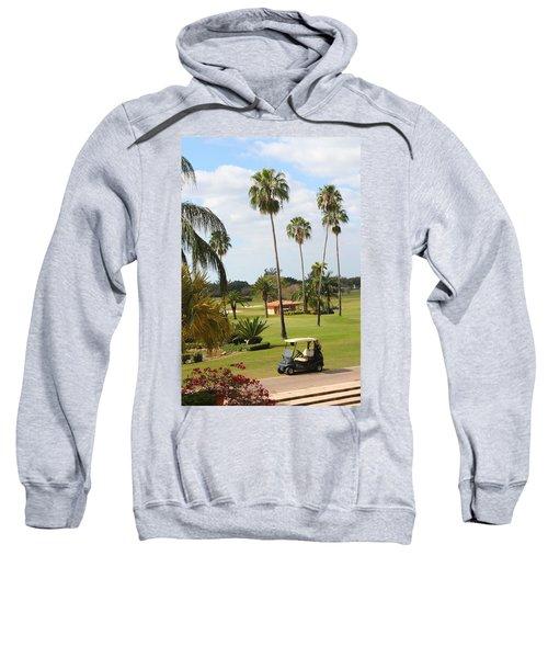 Golf Cart In Golf Course Sweatshirt