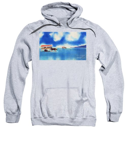 Yubu Island-water Buffalo Taxi  Sweatshirt