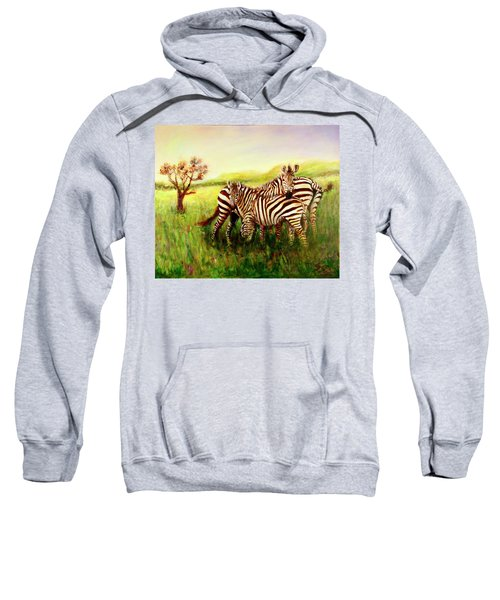 Zebras At Ngorongoro Crater Sweatshirt