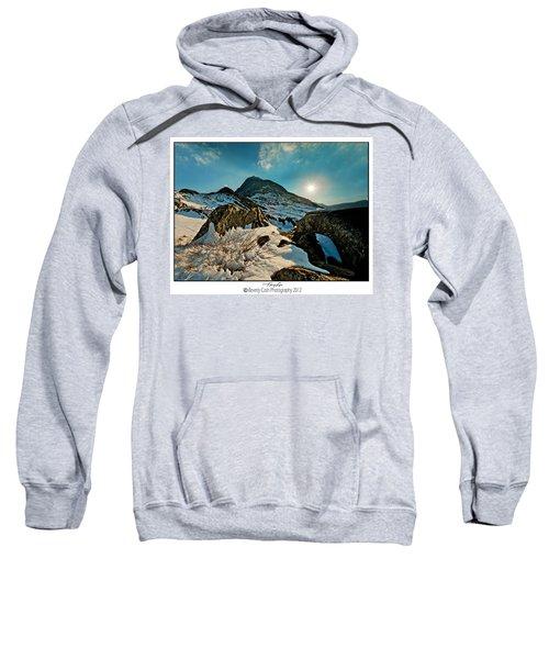 Spring Snows At Tryfan Sweatshirt