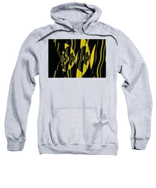 Sweatshirt featuring the digital art Twirling by Mihaela Stancu