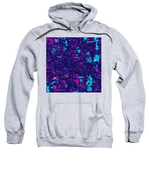 Sweatshirt featuring the digital art Cromatic by Mihaela Stancu