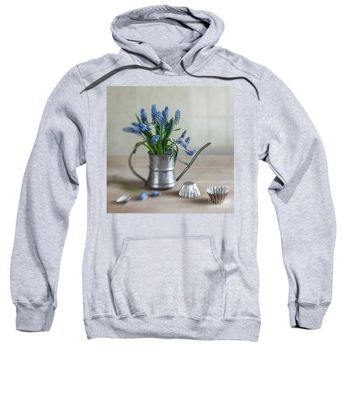 Still Life With Grape Hyacinths Sweatshirt