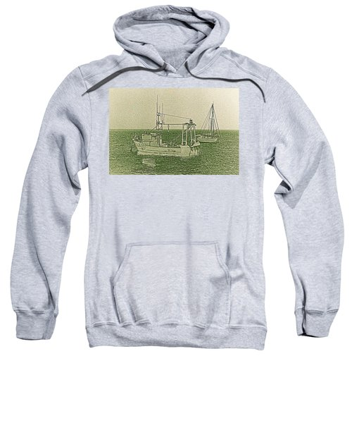 Fishing Boats Art Sweatshirt