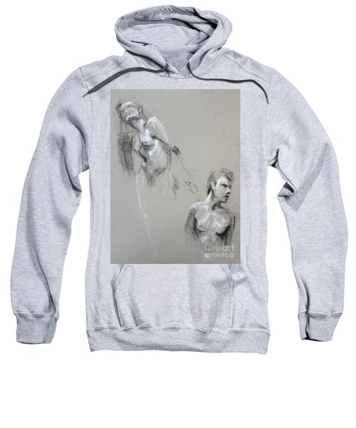 Sweatshirt featuring the drawing Andro Double by Gabrielle Wilson-Sealy