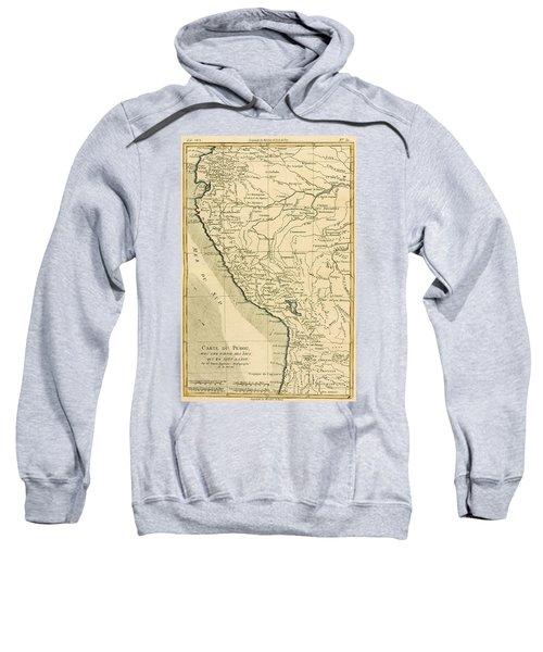 Antique Map Of Peru Sweatshirt