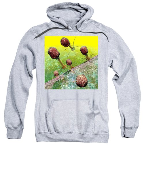Bacteriophage T4 Virus Group 2 Sweatshirt